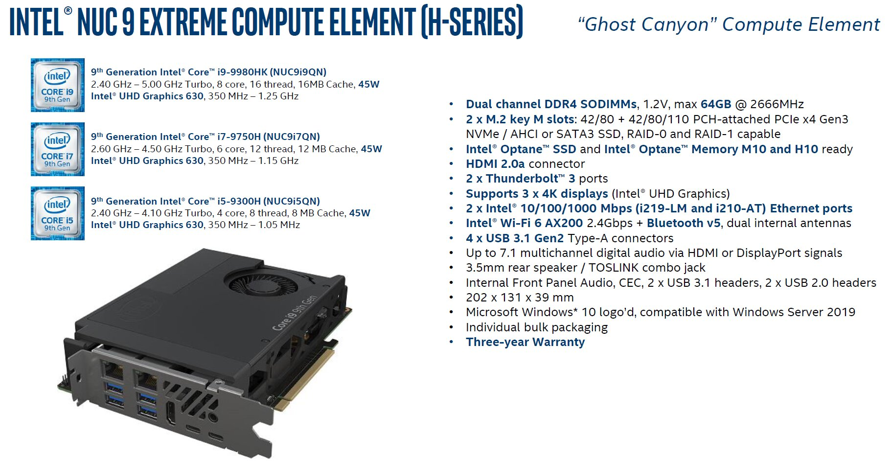 Intel Compute Element Ghost Canyon