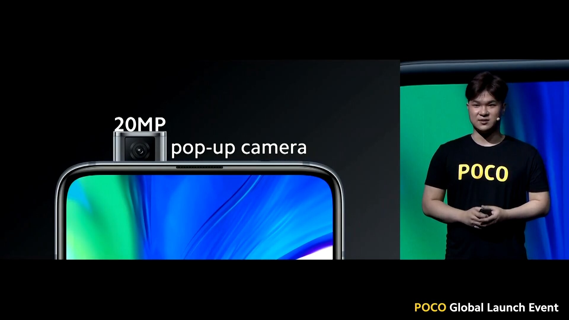 Pop-up-Frontkamera mit 20 Megapixeln