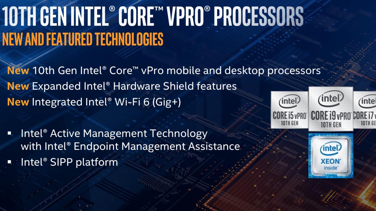 Comet Lake vPro: Intel Core und neue Xeon W-1200 für Business-Lösungen