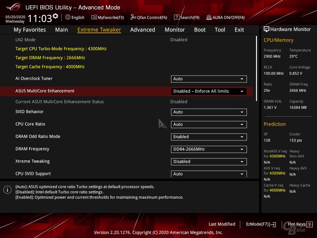 Ein Intel Core i5-10400F mit allen Intel-Limits ...