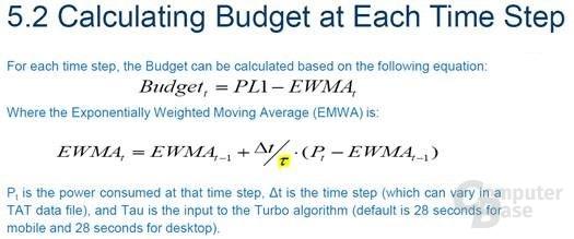 EWMA liegt eine komplizierte Formel zugrunde