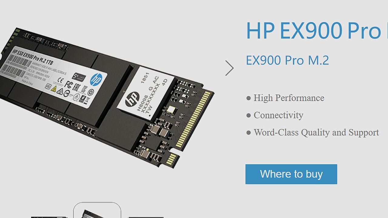 NVMe-SSD: HP EX900 Pro folgt mit mehr Leistung und Garantie