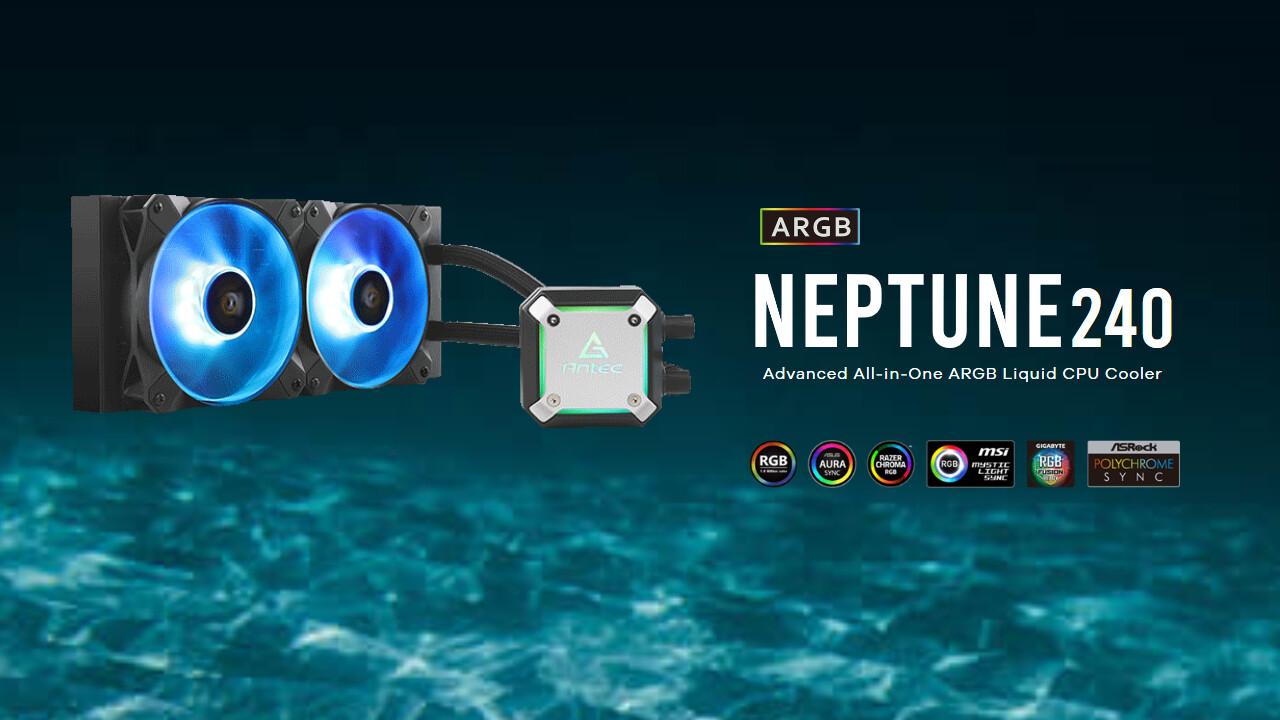 Antec Neptune 240 & 120 ARGB: Mit der Pumpe im Radiator wird der Kühlblock kompakter