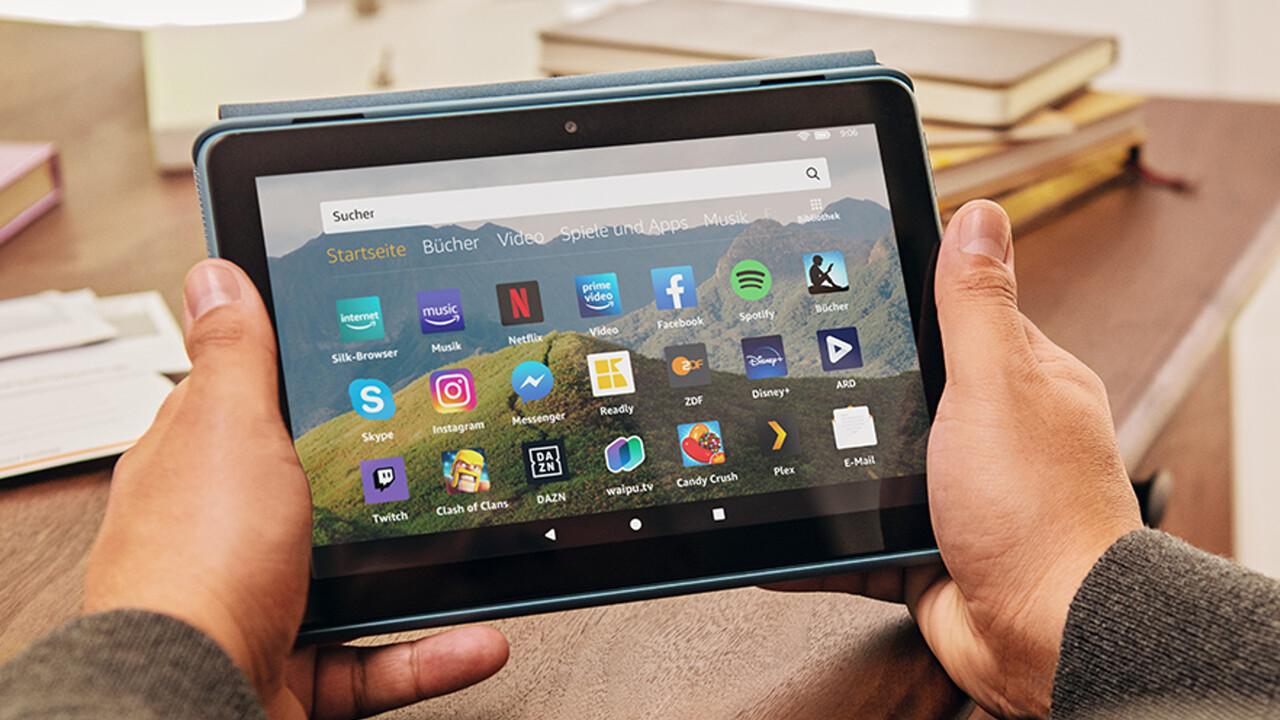 Fire HD 8 (Plus): Amazon erneuert Tablets mit mehr SoC, Speicher und Akku
