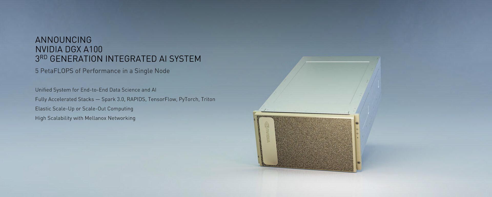 DGX A100 liefert 5 PetaFLOPS FP16