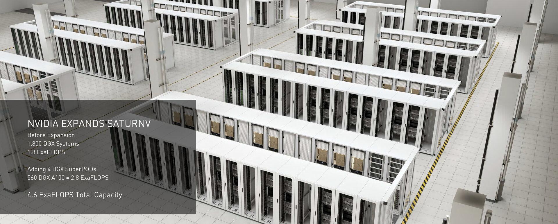 Nvidia erweitert eigenen Supercomputer SATURNV um Ampere