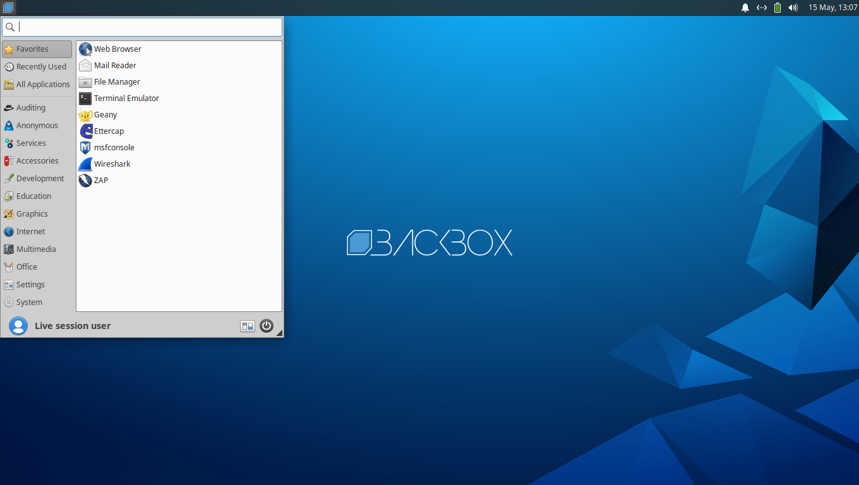 BackBox Linux 7 mit Xfce 4.14.2