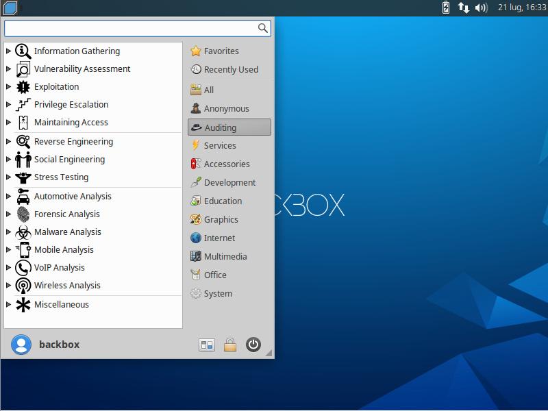 BackBox Linux 7