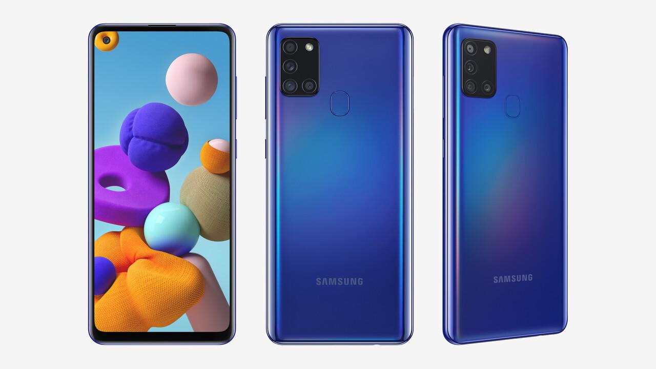 Samsung Galaxy A21s: 200-Euro-Smartphone mit 6,5Zoll und 5.000mAh