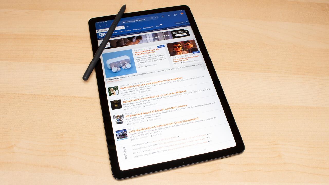 Samsung Galaxy Tab S6 Lite im Test: Günstiger S-Pen-Einstieg mit kleinen Schwächen