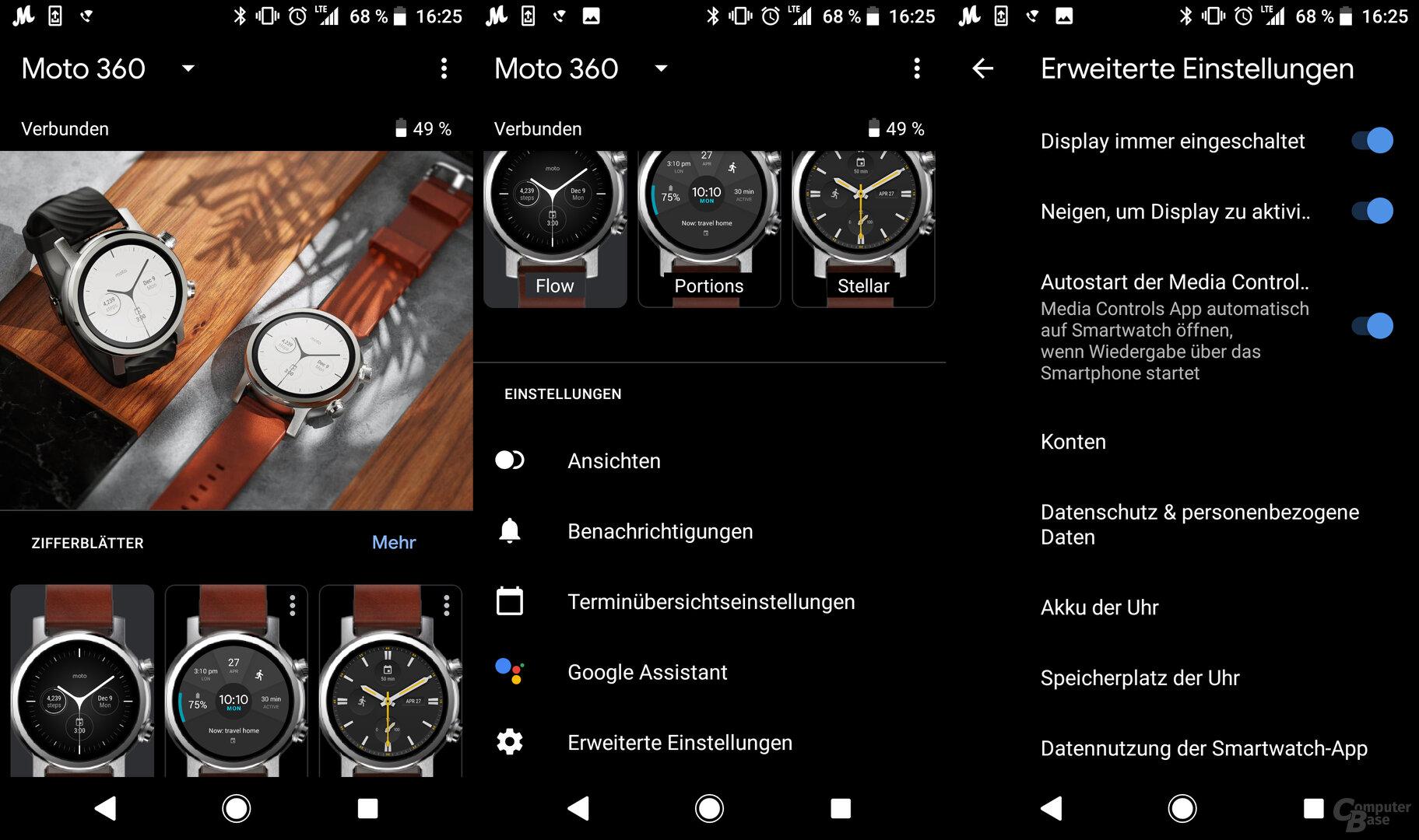 Motorola Moto 360 im Test: Wear OS App