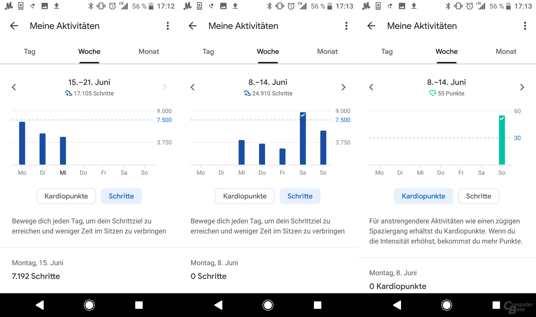 Motorola Moto 360 im Test: Google Fit App