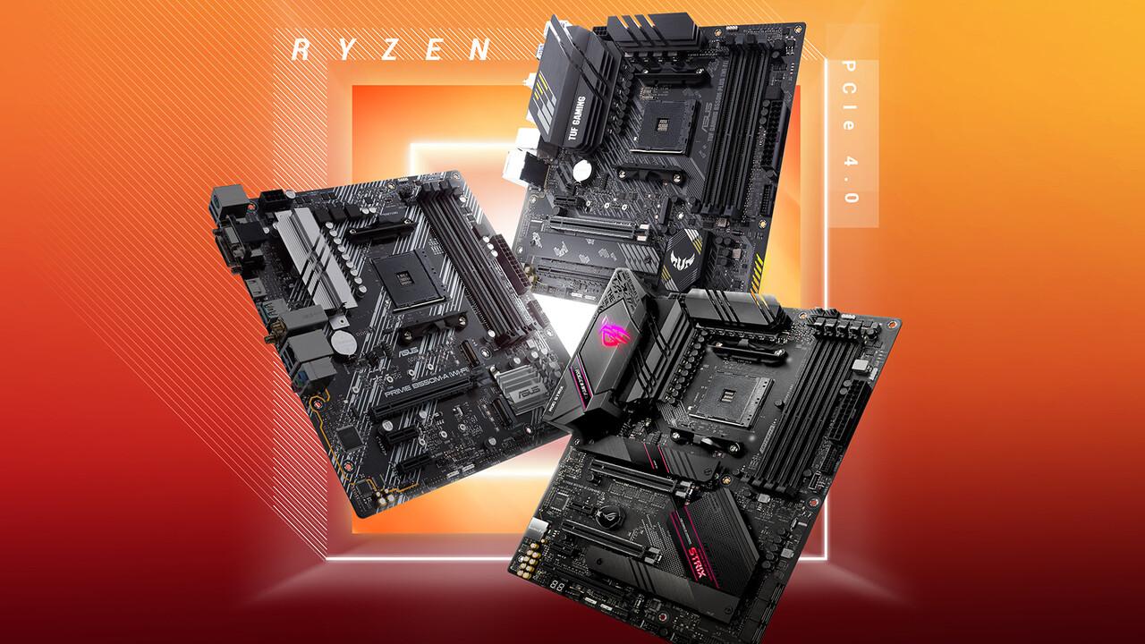 AM4-Mainboards: Asus bringt acht Platinen mit AMD B550 und PCIe 4.0
