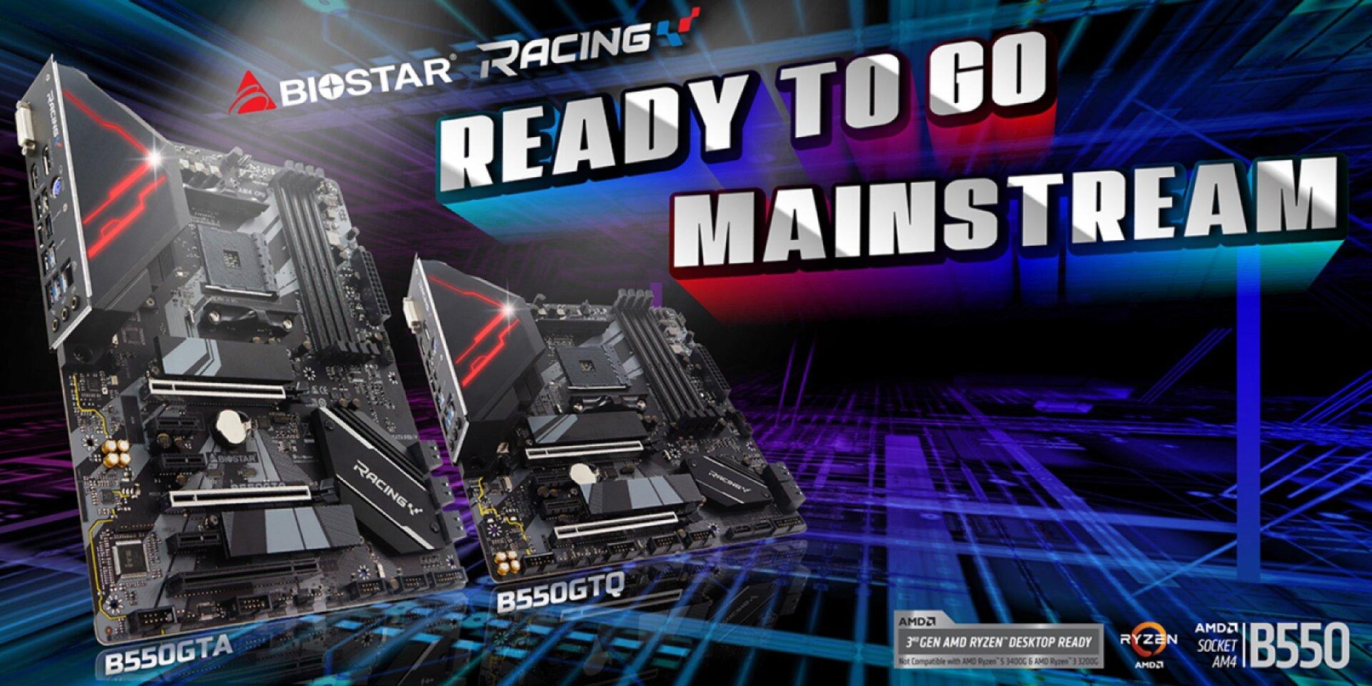 Biostar Racing B550GTA und B550GTQ - Logo