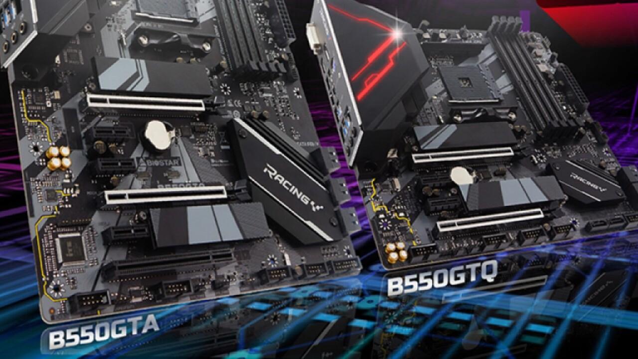 Racing B550GTA und B550GTQ: Biostar-Mainboards mit AMD B550 sind ungleiche Brüder
