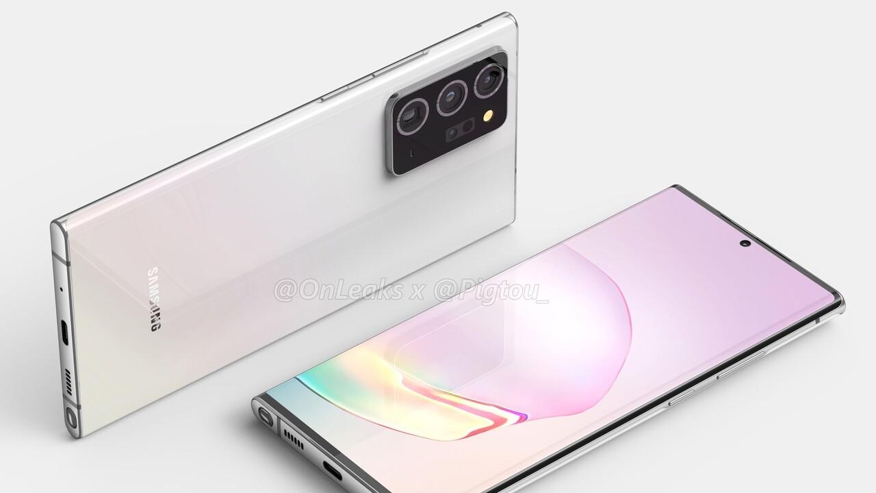 Stylus-Smartphone: Samsung Galaxy Note 20+ soll unter 7Zoll bleiben