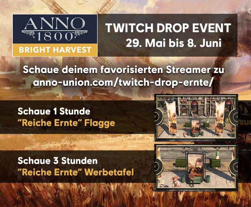 Das Drop Event startet Freitag, 29. Mai und dauert bis Montag, 8. Juni
