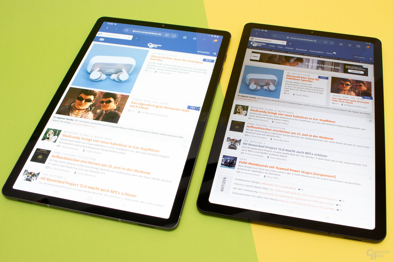 Das Galaxy Tab S6 (links) und das S6 Lite (rechts)