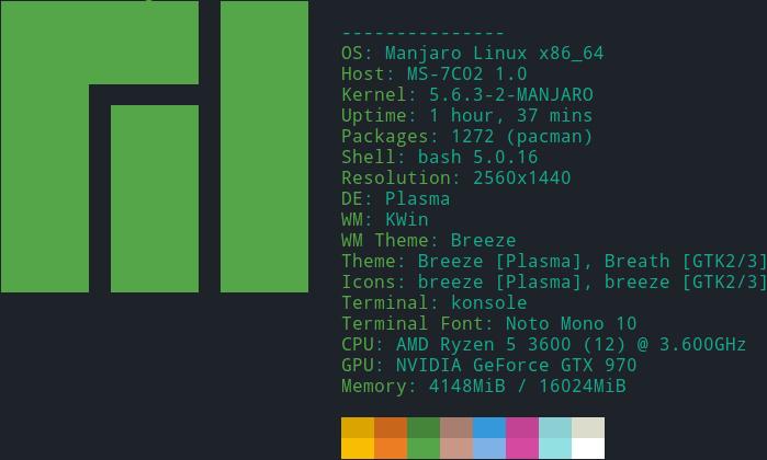"""Manjaro Linux 20 (""""Lysia"""") als Host für Windows 10"""
