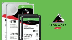 Seagate IronWolf für NAS: 2 × 16 TB HDD und 2 × 480 GB SSD zu gewinnen [Anzeige]