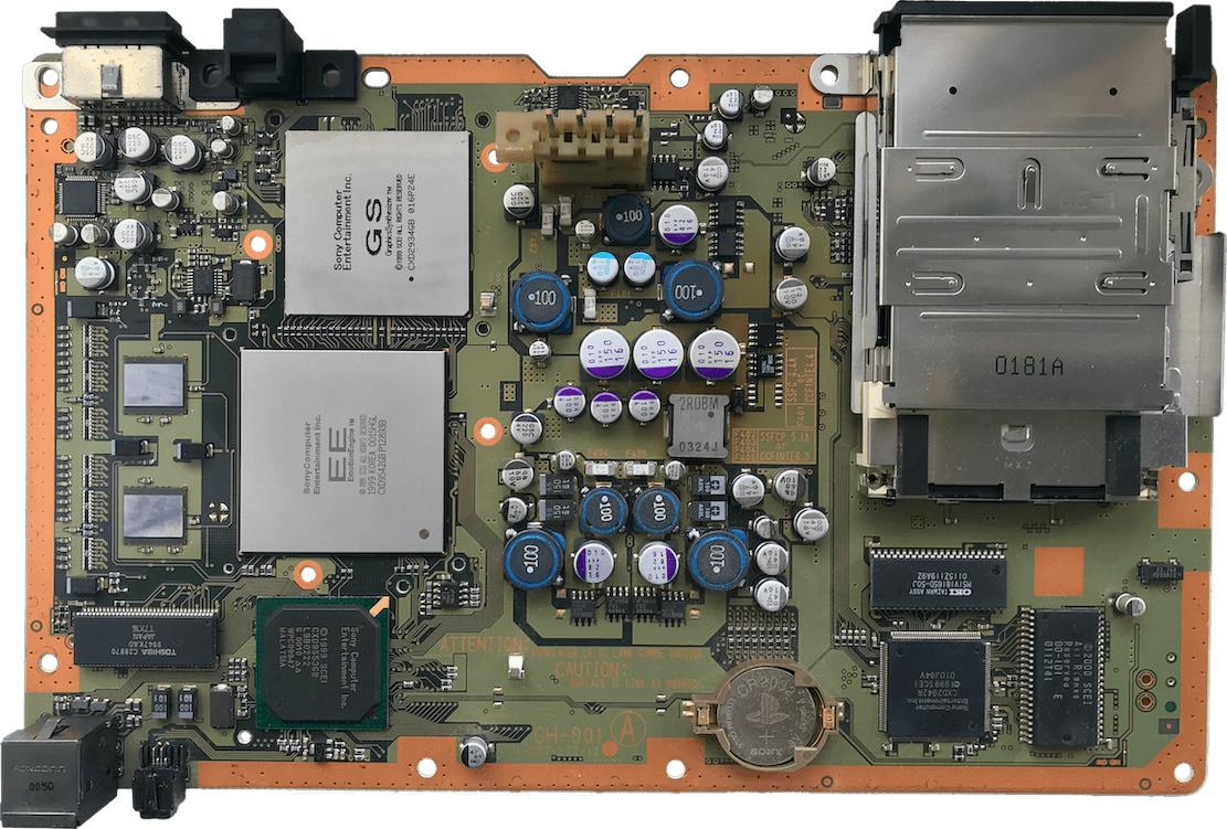 Das Mainboard der Sony PlayStation 2