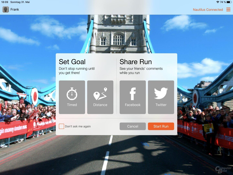 Die JRNY-App des Bowflex Max Trainer M8