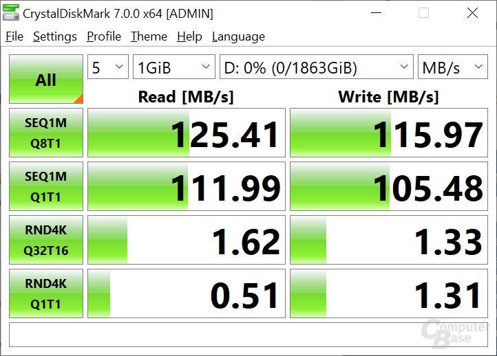 Die Seagate BarraCuda 2 TB HDD (2,5 Zoll) mit SATA