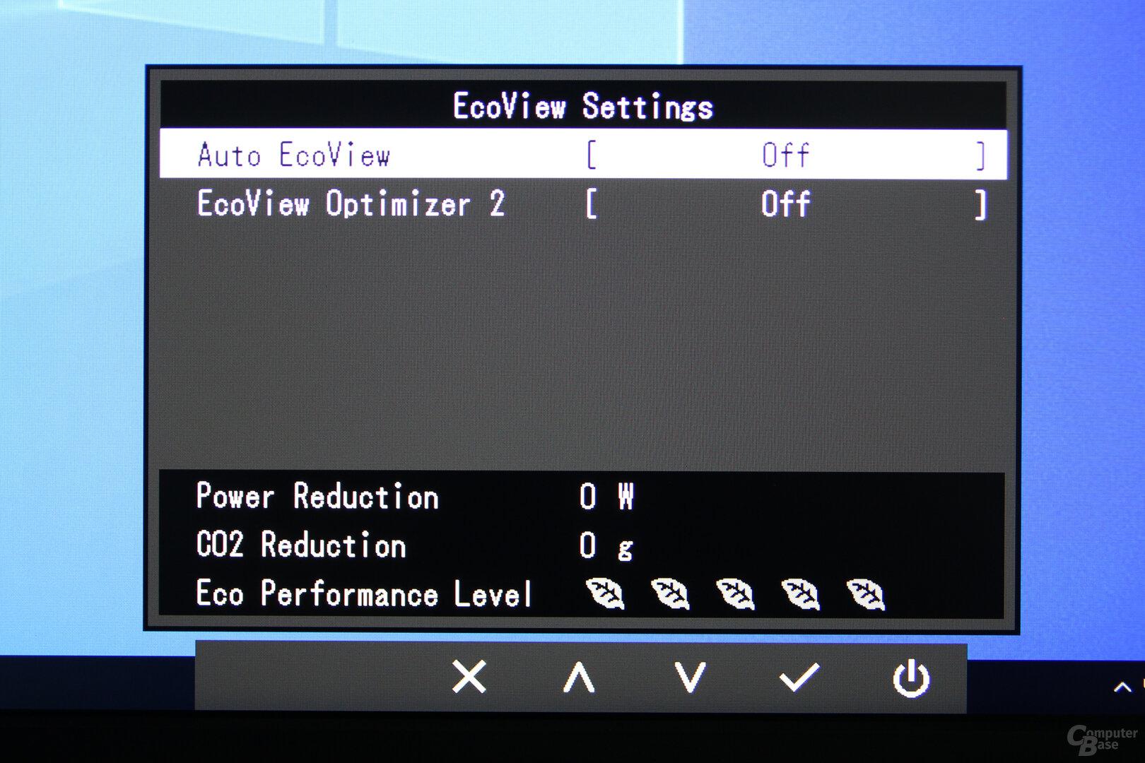 OSD des Eizo FlexScan EV2760