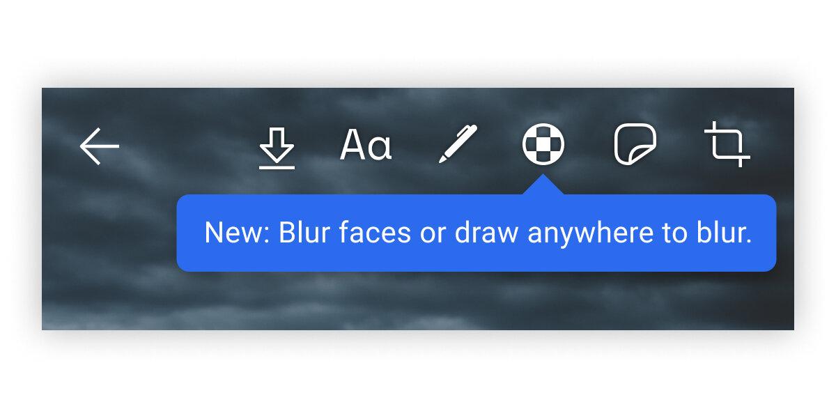Blur-Toolbar in Signal