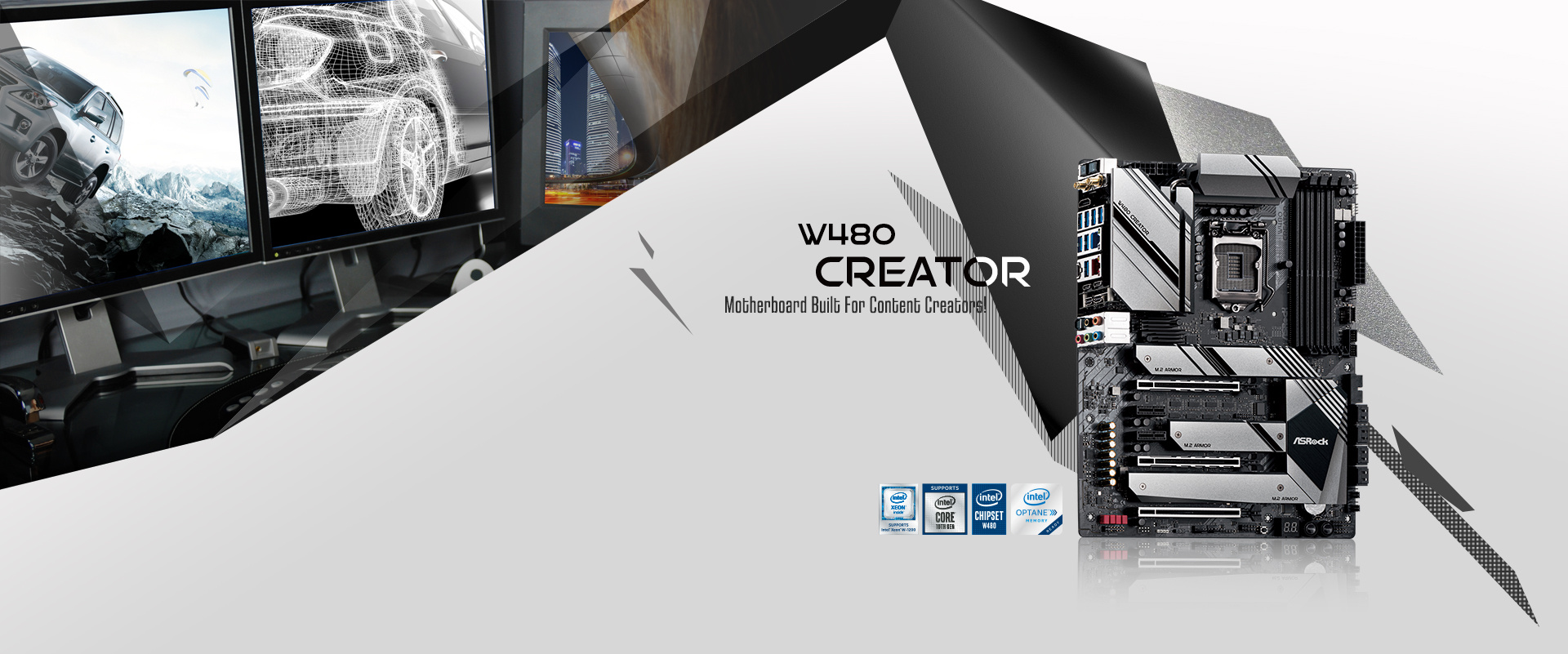Das ASRock W480 Creator soll vor allem kreative Köpfe wie Entwickler ansprechen