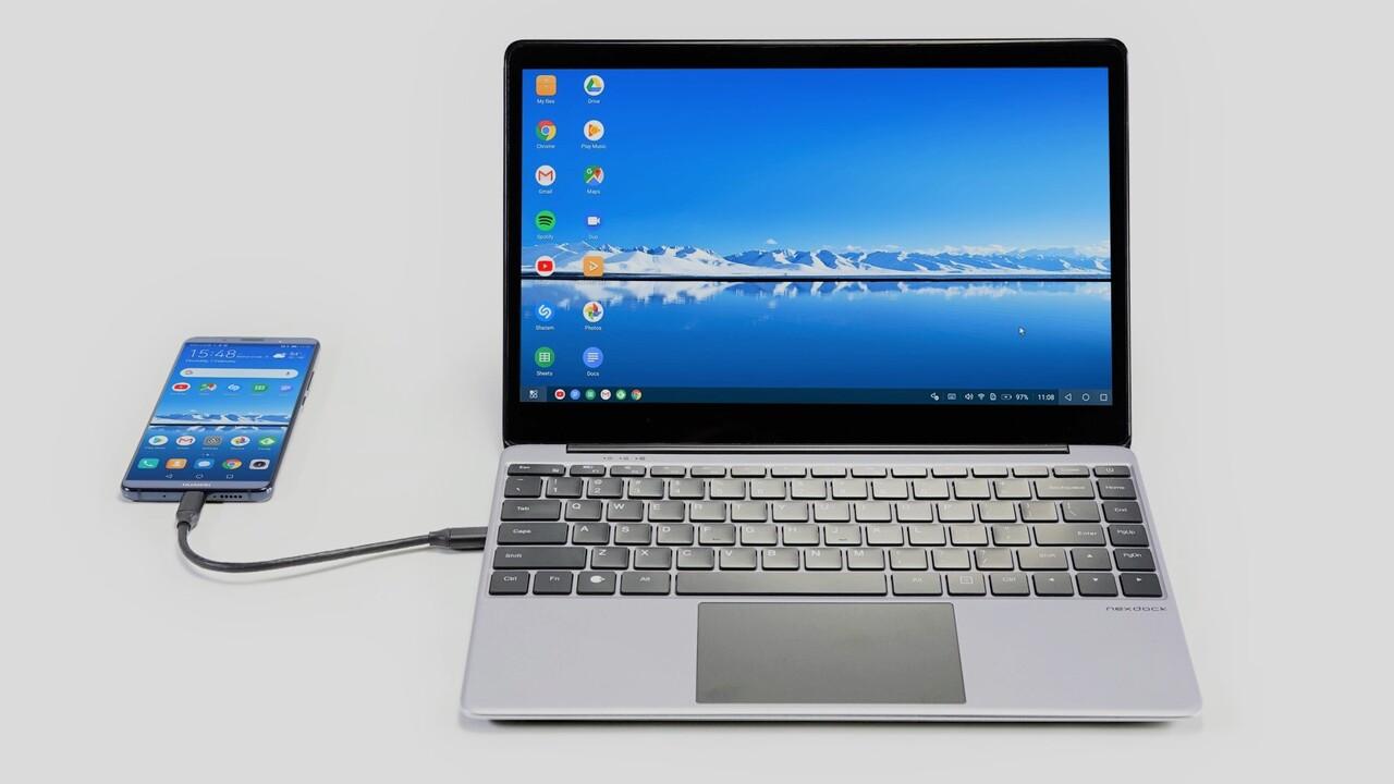Dockingstation: NexDock Touch verwandelt Smartphones in Notebooks