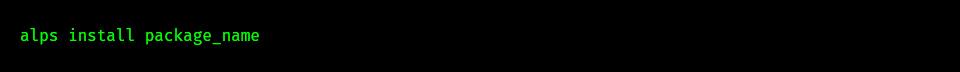 Programme werden mit dem Tool alps installiert