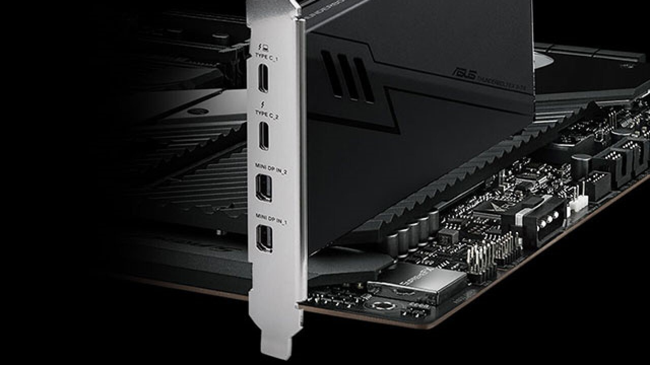 Asus ThunderboltEX 3-TR: PCIe-3.0-x4-Karte bietet je 2× USB-C und DisplayPort