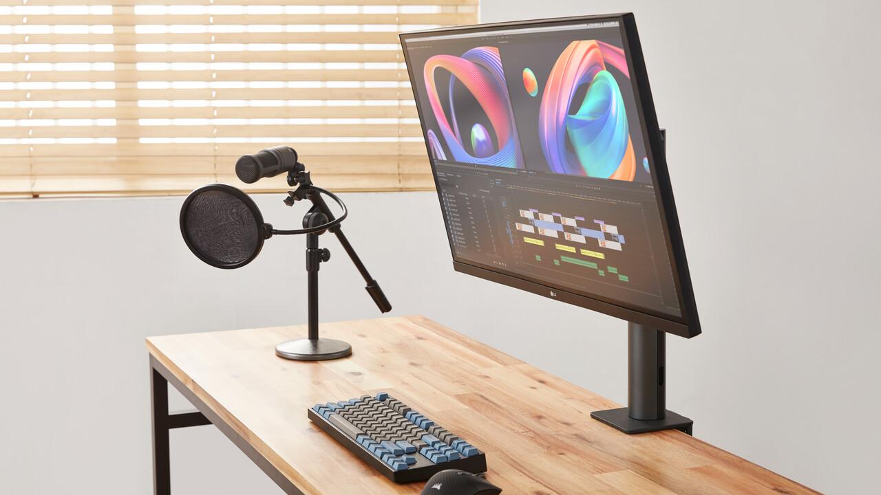 LG 27QN880 und 32UN880: Ergo-Monitore mit Tischhalterung, IPS und USB-C