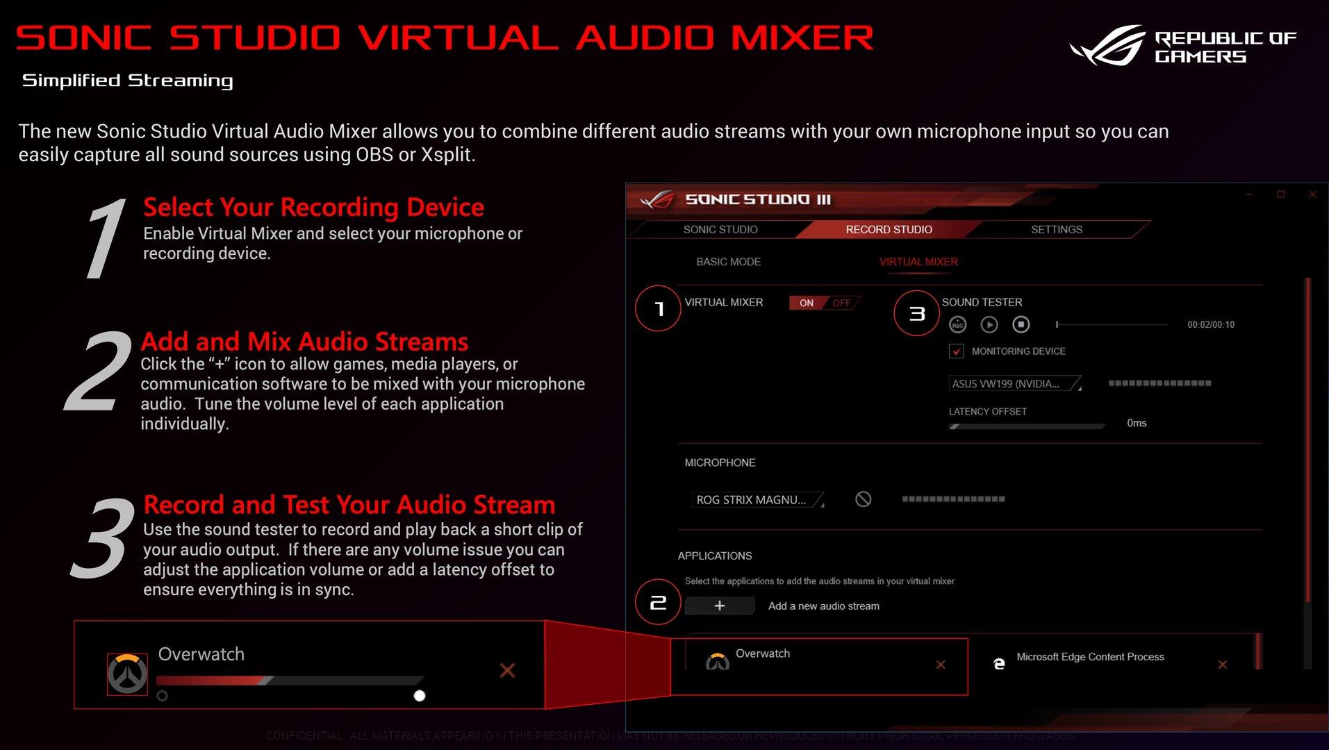Perfekt für Streamer: Sonic Studio Virtual Audio Mixer: Virtuelles Audio-Routing direkt im Audio-Teiber