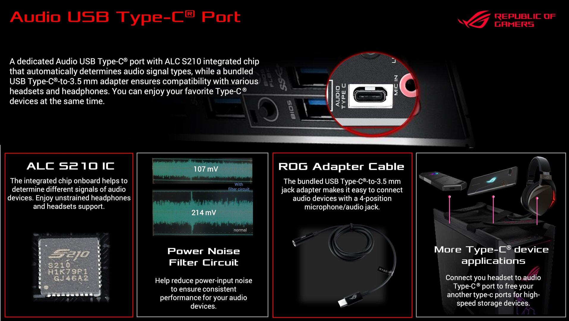Ein USB-Typ-C-Anschluss speziell für Audio
