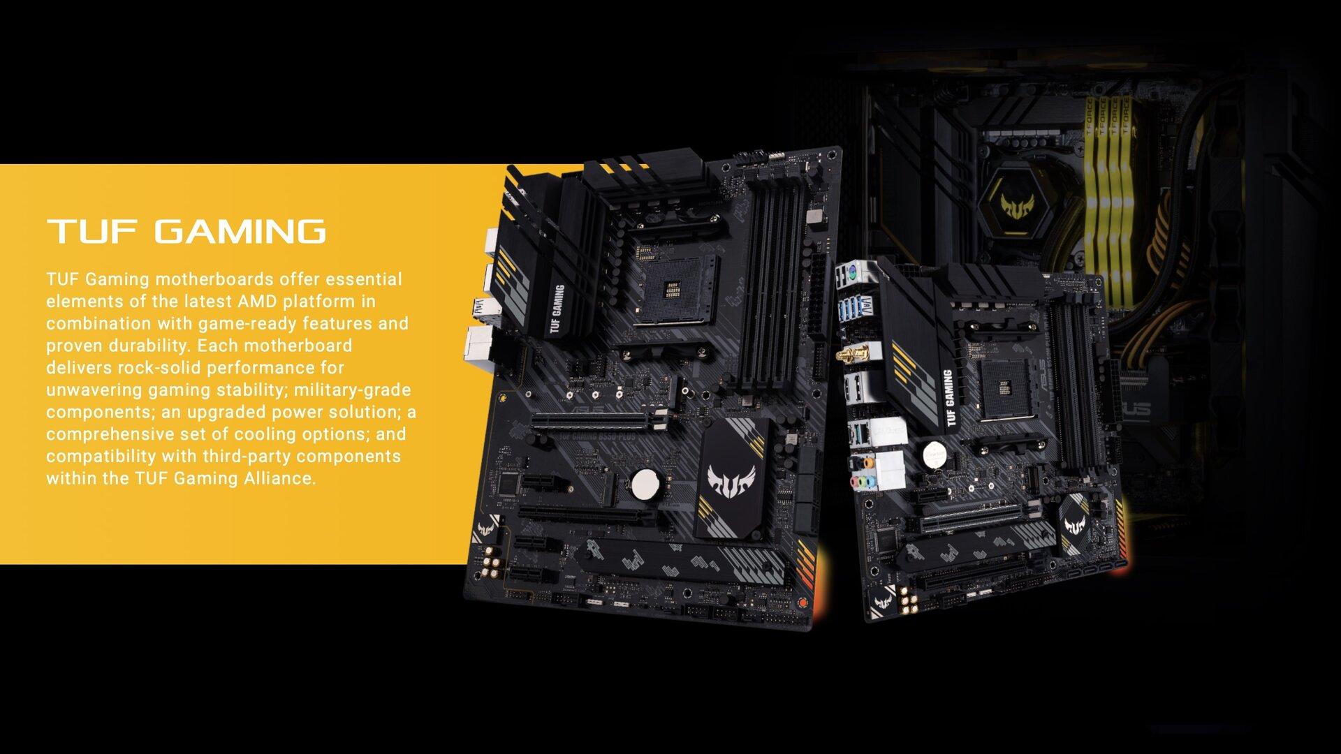 Asus TUF Gaming mit AMDs B550-Chipsatz