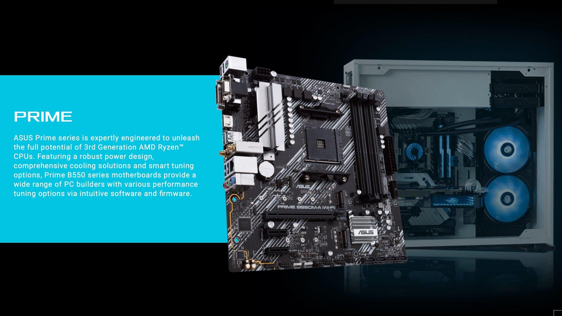 Asus Prime mit AMDs B550-Chipsatz