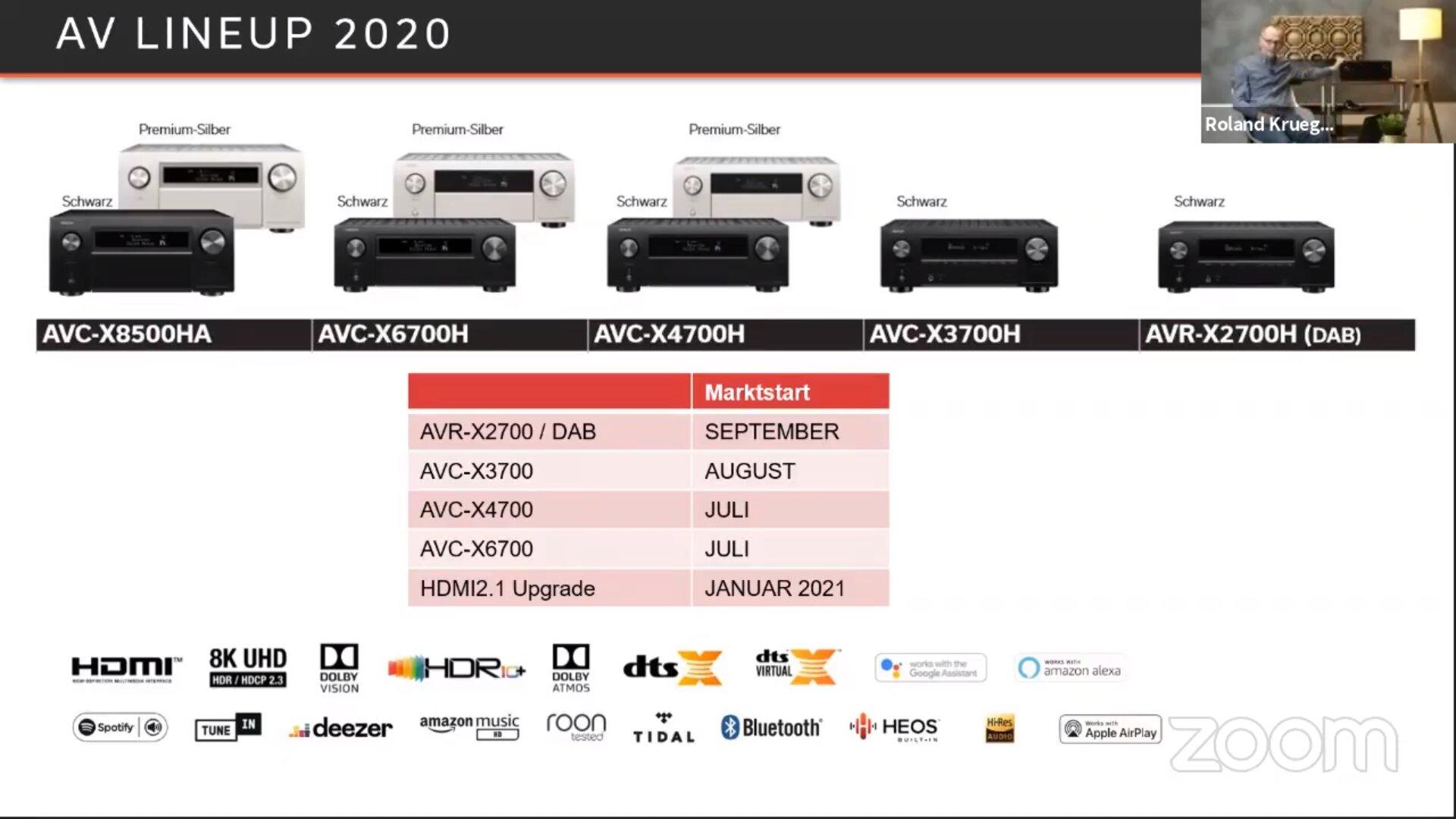 HDMI 2.1 für AVC-X8500H im Januar 2021