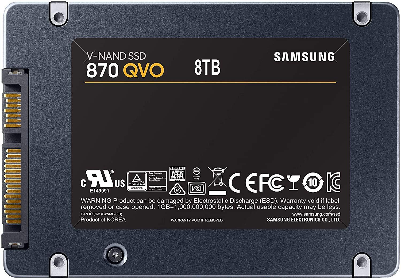 Samsung 870 QVO SSD mit 8 TB