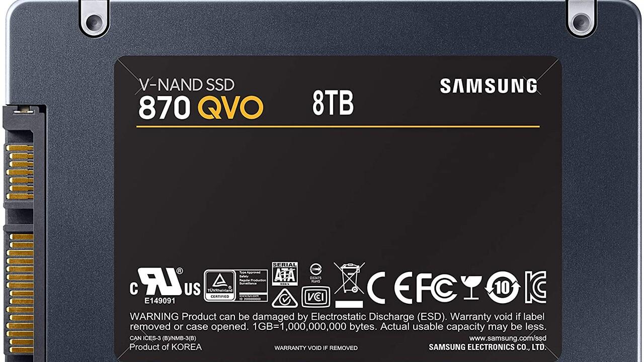 Samsung 870 QVO: Neue SSD-Serie verdoppelt die Kapazität auf 8 TB