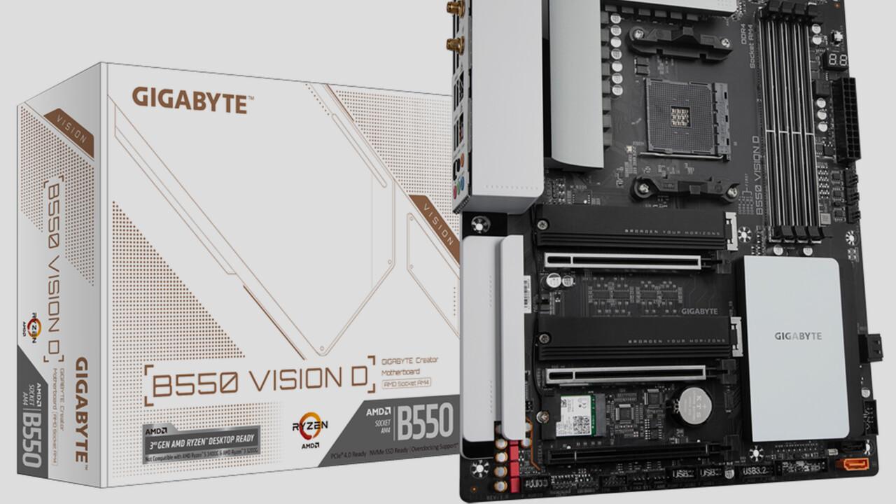 Gigabyte B550 Vision D: AM4-Mainboard mit Intel Titan Ridge für Thunderbolt 3
