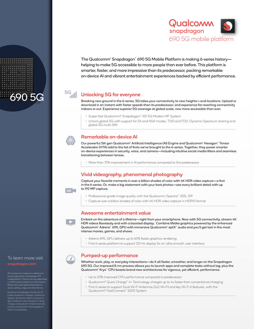 Snapdragon 690 Product Brief