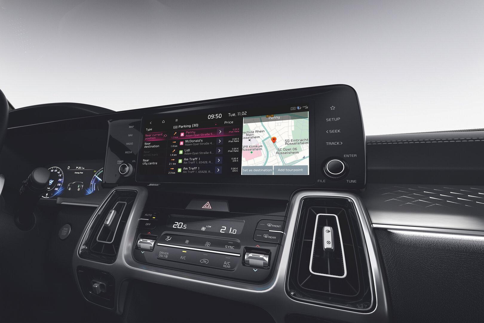 Kia Live Navigation im Auto