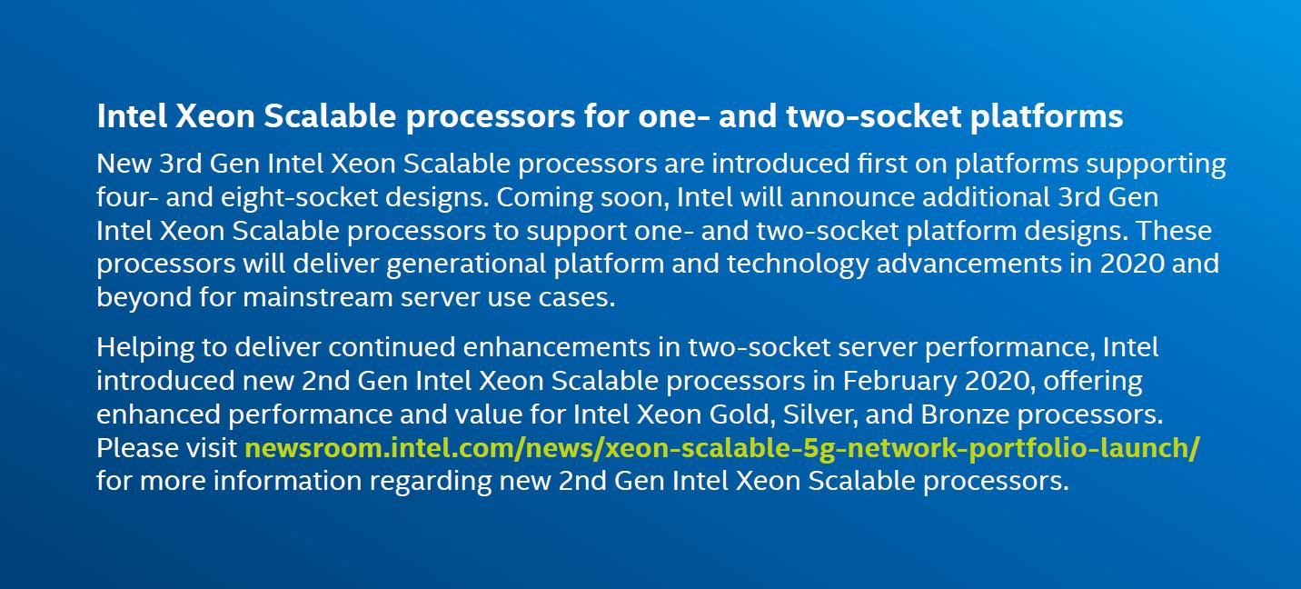Intel zum kommenden Dual-Sockel-Server-Prozessor