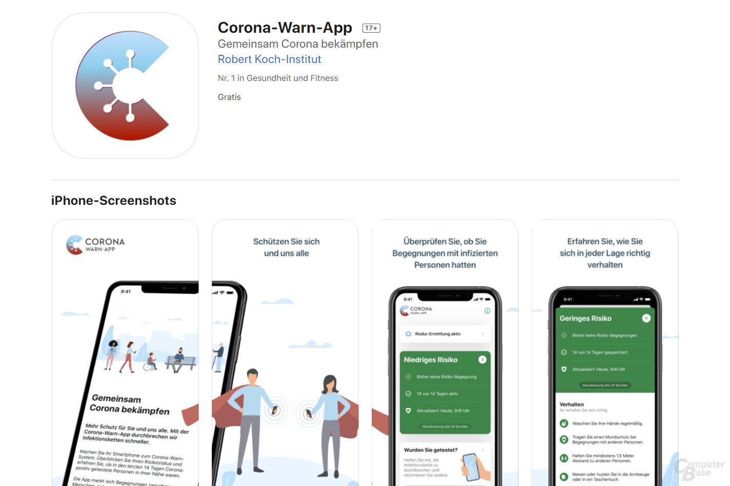 Corona-Warn-App im Apple App Store