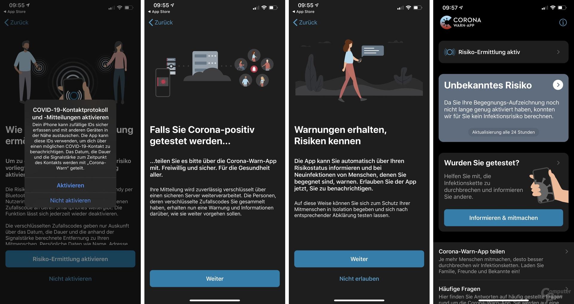 Screenshots aus der iOS-Version