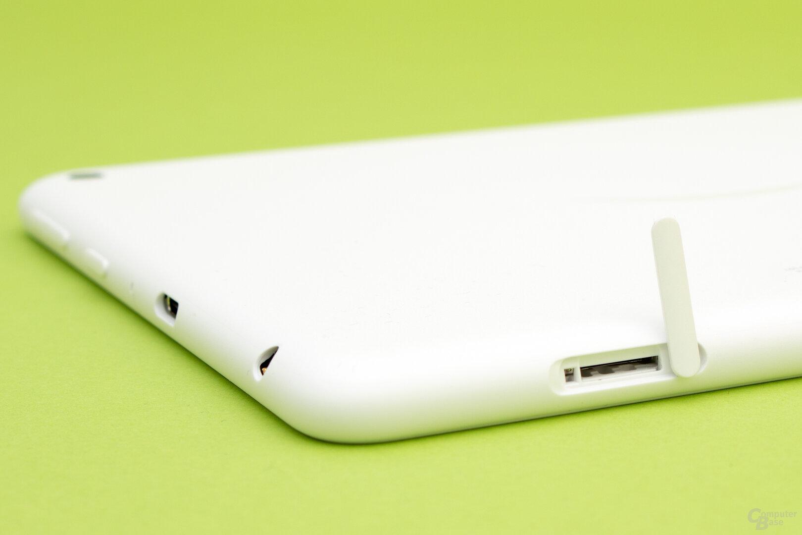 Auch die neue Generation des HD 8 lässt sich per Speicherkarte erweitern