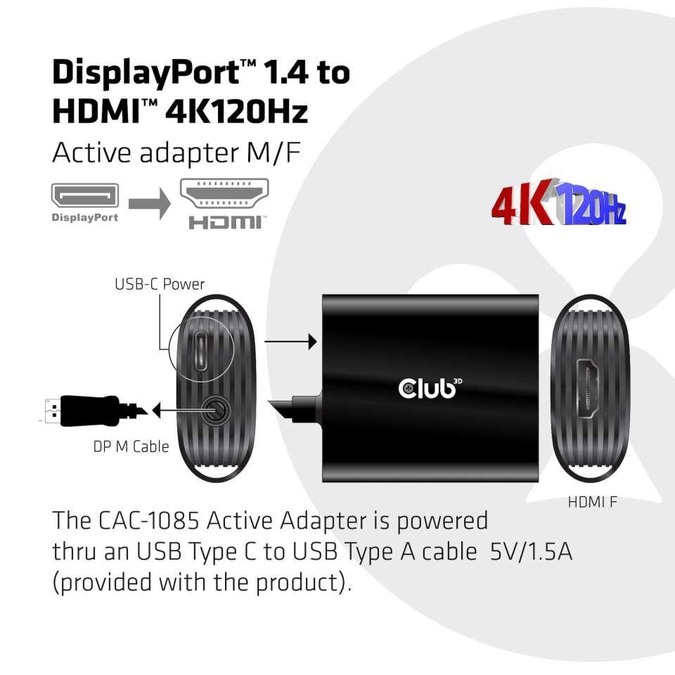 Der Adapter CAC-1085 von Club3D