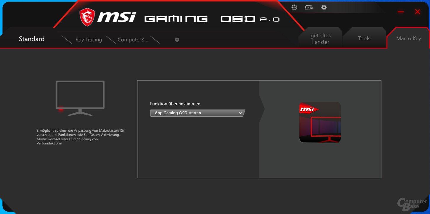 MSI Gaming OSD mit dem MSI Optix MAG274R